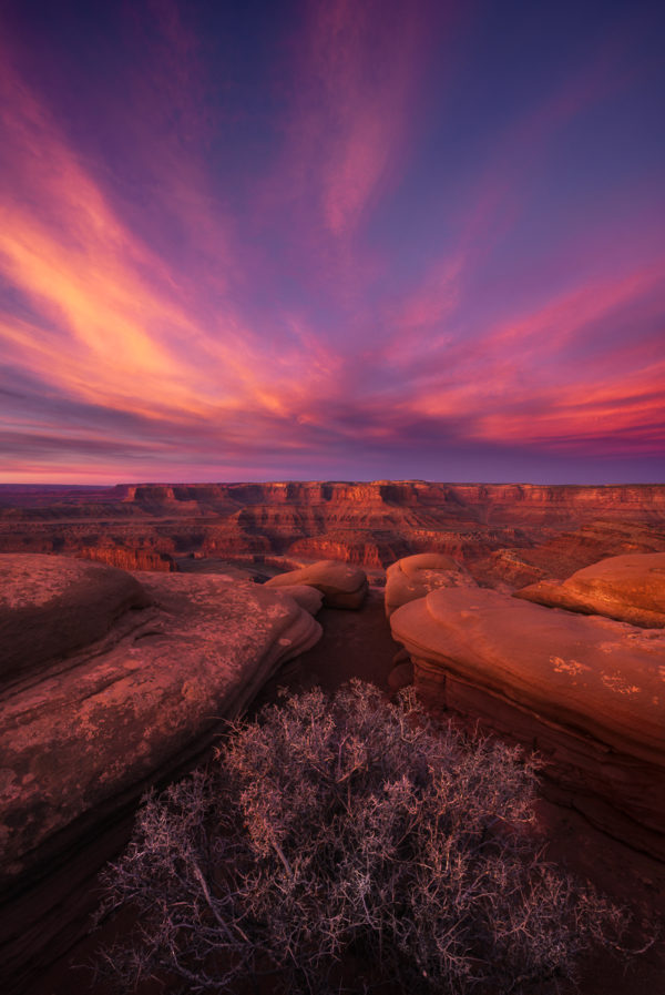 Beautiful sunrise in Dead Horse Point State Park, Utah