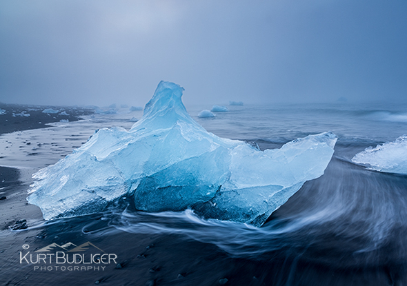 Agents of Change - Beach at Jokulsarlon, Iceland